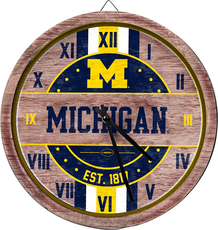 FOCO NCAA Wooden Credence Wall Barrel 40% OFF Cheap Sale Clock