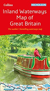 Collins Nicholson Inland Waterways Map of Great Britain [New Ed: The number 1 bestselling waterways map