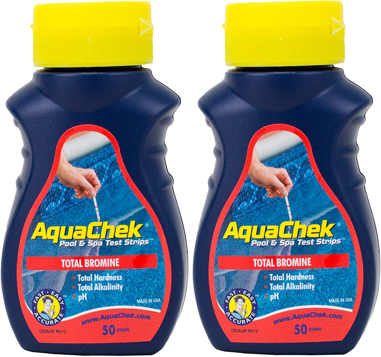 AquaChek 2 Red Swimming Pool Spa Max 73% OFF Bromine Super Special SALE held Kit Strips Test Alka pH