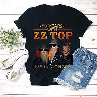 50 Years with ZZ-Top Concert 2019 T-Shirt Concert Band Vintage T-Shirt Unisex T-shirt - Premium T-shirt - Hoodie - Sweater - Long Sleeve - Tank Top