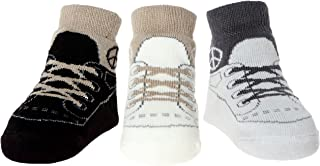 Baby Infant Boy Socks Ant-Slip Soles 3 Pairs - Cotton Baby Shower Gift