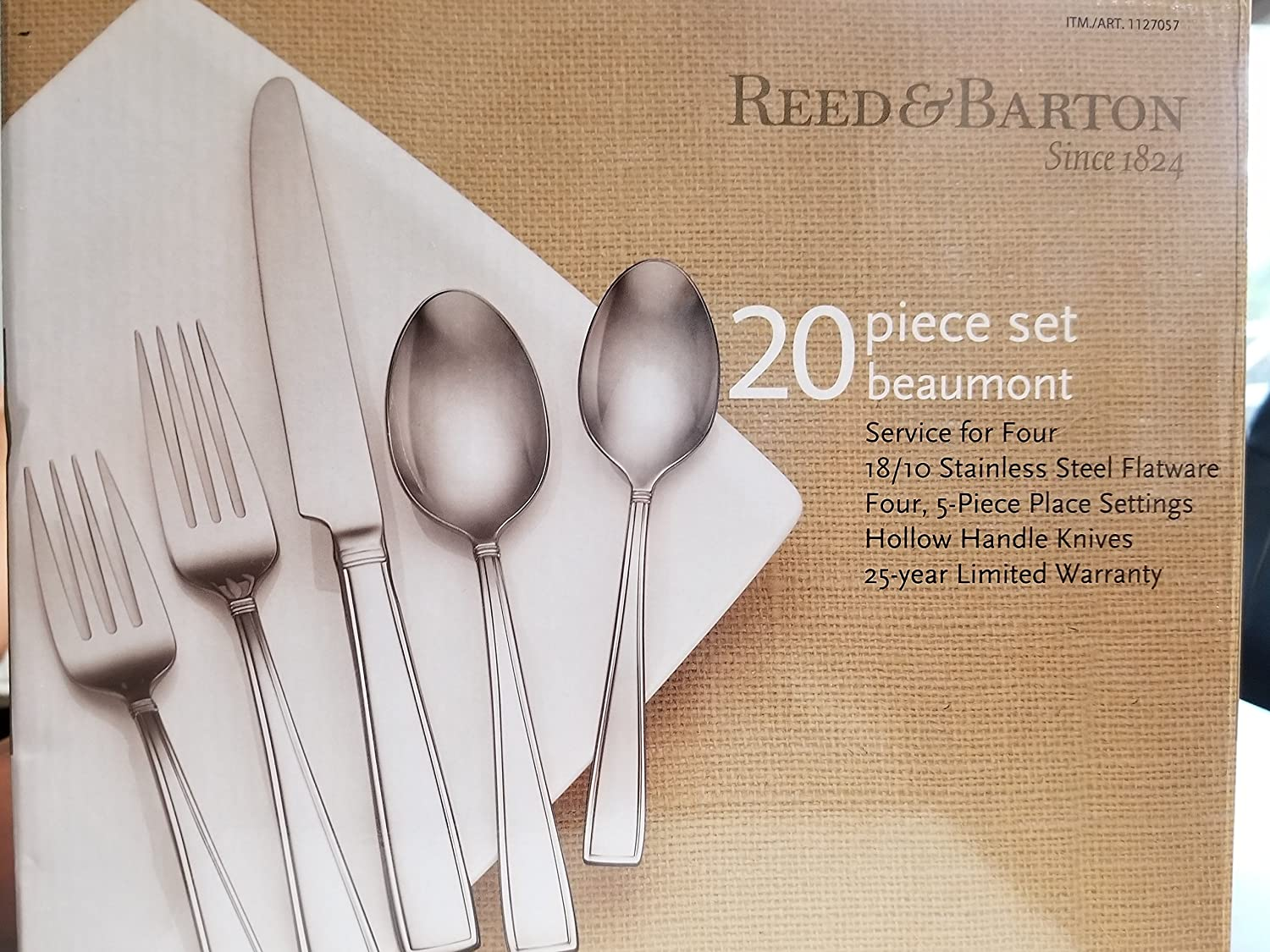 Reed & Barton 20 Piece 18 10 Stainless Steel Beaumont Flatware