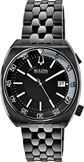 Accutron II Black Dial Stainless Steel Men's Watch 98B219