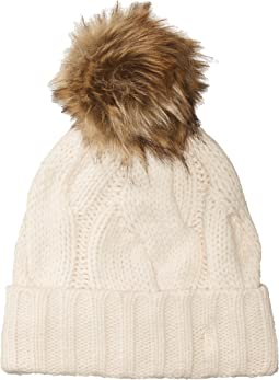 Polo Ralph Lauren - Exploded Rope Cable Cuff Hat w/ Pom