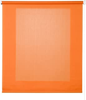 Estores Basic - Enrollable Traslúcido, Naranja, 150x175 cm