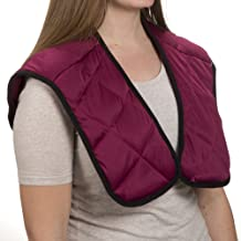 Bluestone Hot or Cold Wrap- Microwaveable or Freezable Neck and Shoulder Wrap-Moist Heat or Cooling Therapy with Natural Buckwheat Filling