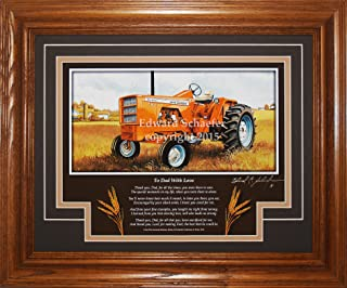 American Memory Prints Art by Ed Schaefer Allis Chalmers Model 190XT 1964-1973 with The Poem (to Dad with Love) Allis Chalmers Tractor Pictures Wall Decor Art Gift for Dad