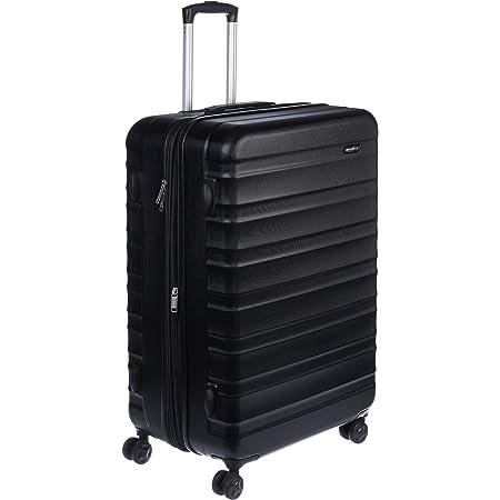 Amazon Basics Valise de voyage à roulettes pivotantes, Noir, 78 cm