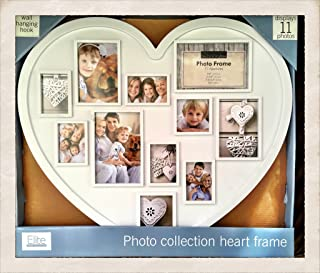 Elite Frame Collection Photo Collection Heart Shaped Picture Frame Holds 11 Photos