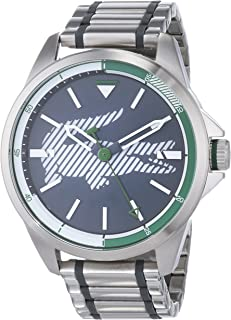 Lacoste Men's Grey Dial Stainless Steel Band Watch - 2010943