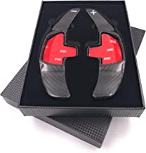 H-Customs Levas En Volante Dsg levas de cambio Shift Paddle hecho de carbono real Type C para Clase A B C CLA CLS GLA C S CLS GLC GLE 2015-2018 REAL CARBON