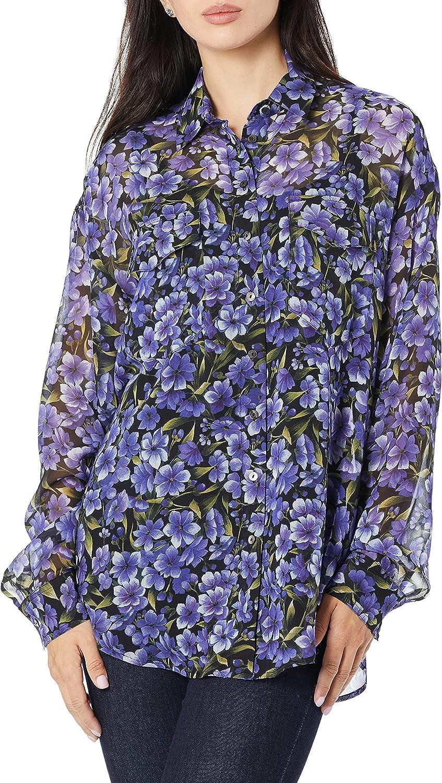 The Kooples Women's Women's Hortensia Print Button-Down Blouse