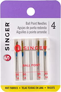 SINGER 4820 Universal Ball Point Machine Needles for Knit Fabric, Size 90/14, 4-Count