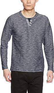[セシール] Tシャツ レイヤードデザイン ヘンリーネック 長袖 重ね着風 JK-468 メンズ