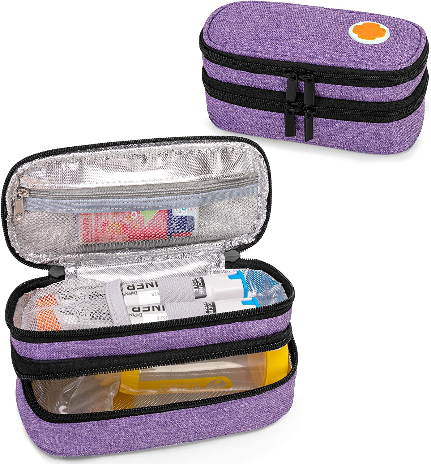CURMIO Double Layer EpiPen Carrying Medic Case Portable Over item handling ☆ Limited time sale for Kid