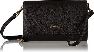 Calvin Klein Hayden Saffiano Leather Key Item Flap Crossbody