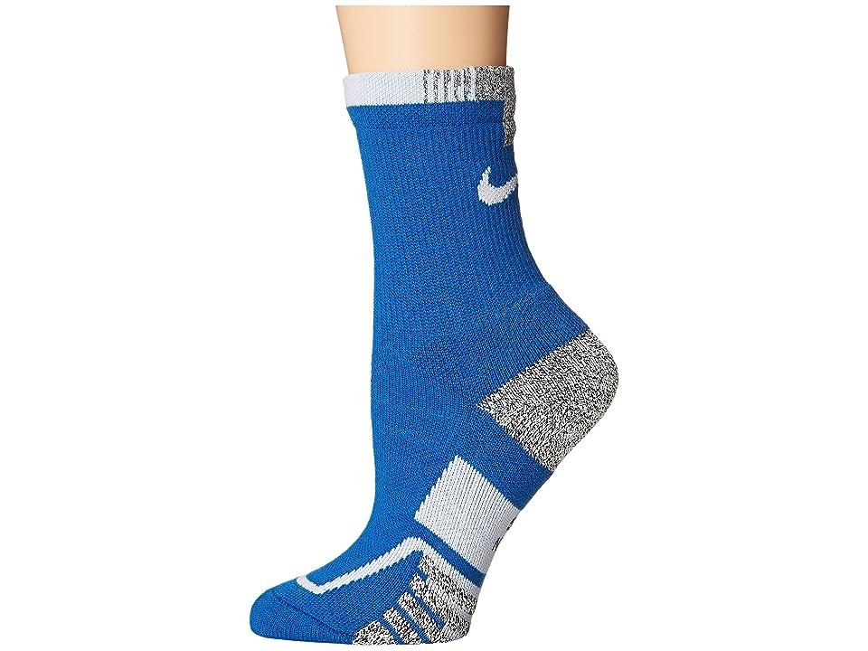 Nike NIKEGRIP Elite Crew Tennis Socks (Blue Jay/White) Crew Cut Socks Shoes