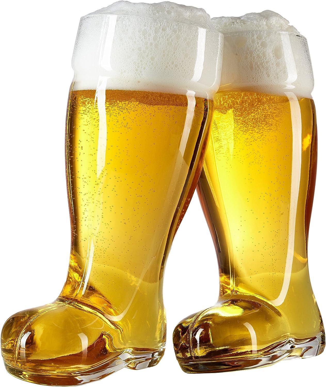 2 Ranking TOP1 Liter Beer Boot Glass of Oktoberfest Boots Set Classic -