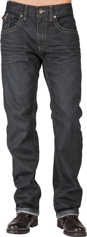 Level 7 Men's Relaxed Straight Leg store Dark Jeans Premium Sales for sale Vint Denim