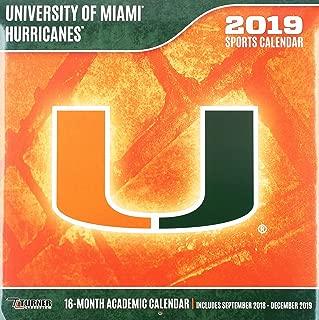 University of Miami Hurricanes 2019 Calendar