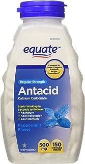 Equate - Antacid Tablets, Regular Strength 500 mg, 150 Chewable Tablets, Peppermint Flavor