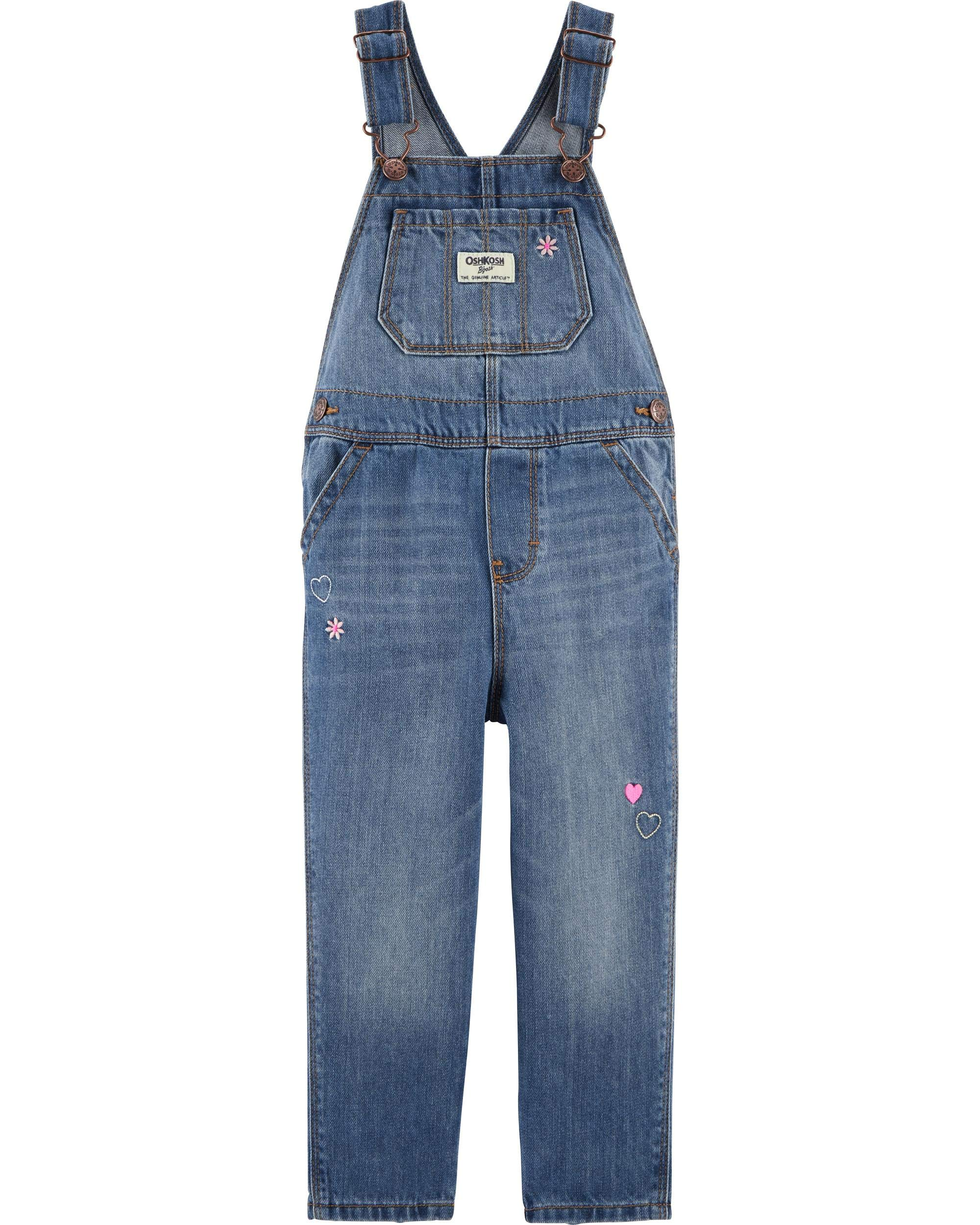 YOUNGER TREE Toddler Kids Baby Girls Rompers One Piece Denim Short Overalls Bow Ruffled Jumpsuit 1-5T