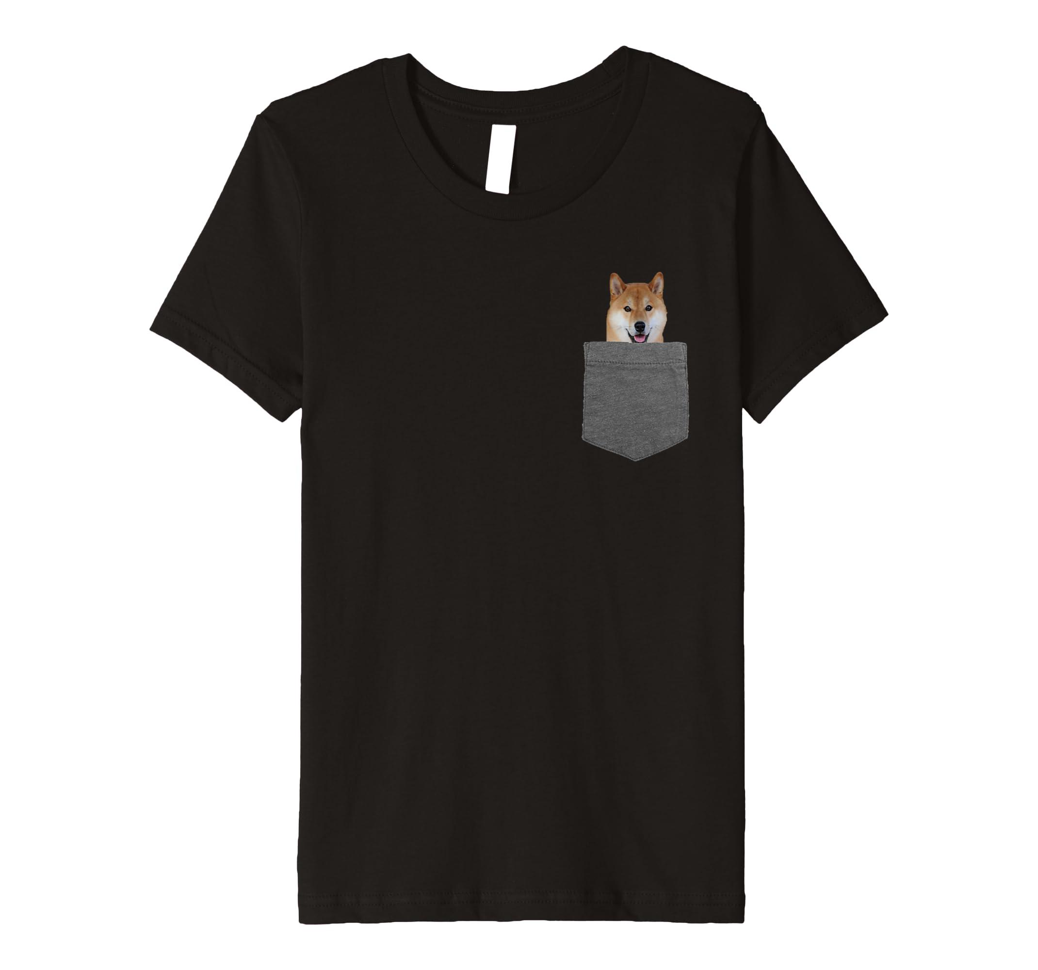 2ae40f2c936 Amazon.com  Dog in Your Pocket Tshirt Shiba Inu Shirt Doge Tee  Clothing