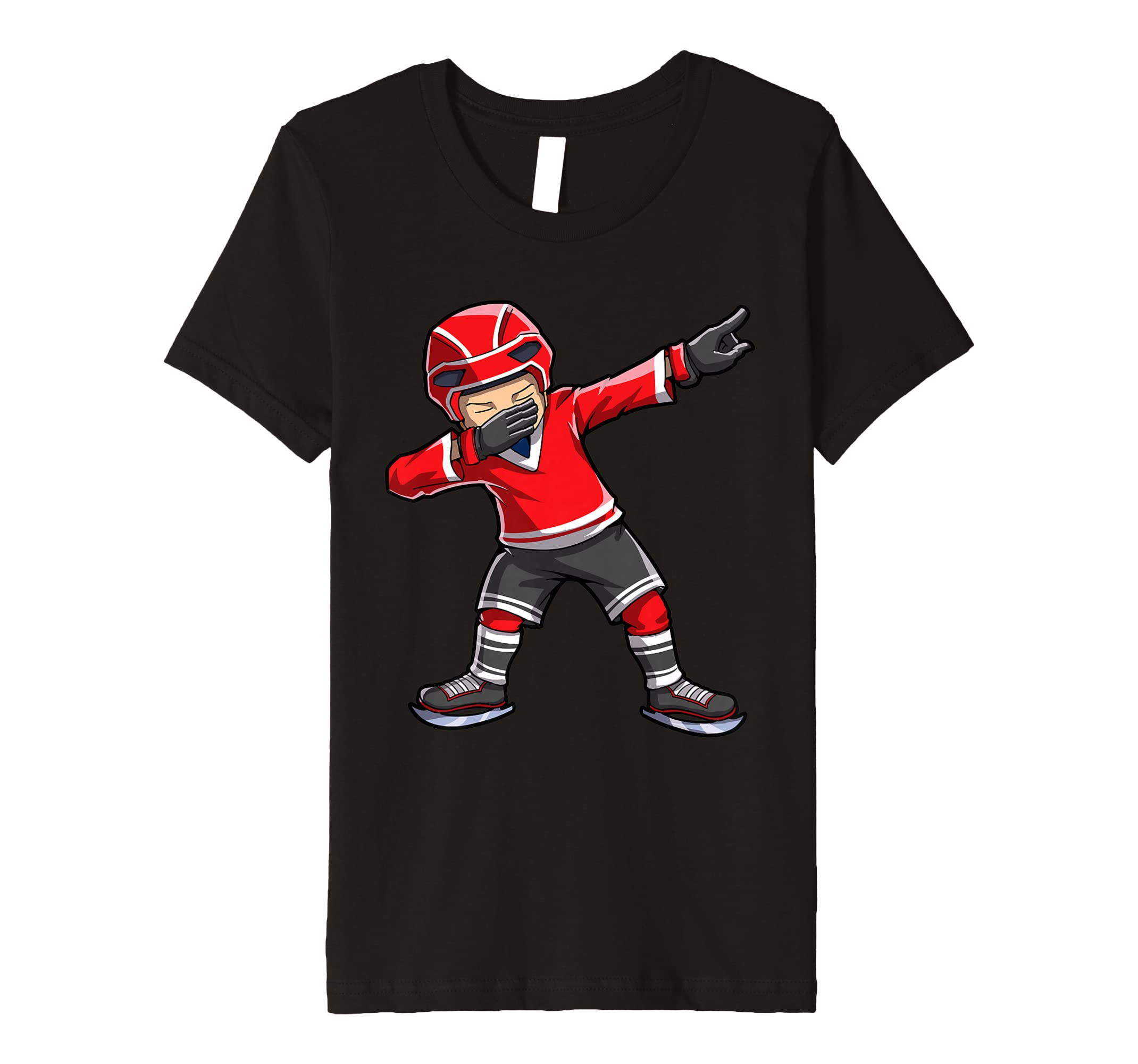 Amazon.com  Dabbing Ice Hockey T Shirt Funny Dab Squad Boys Kids Gifts   Clothing 3221da5a3c1