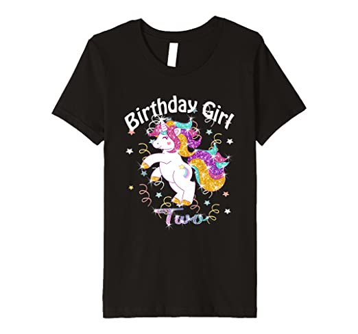 Amazon Kids Birthday Girl Two Unicorn Shirt 2 Year