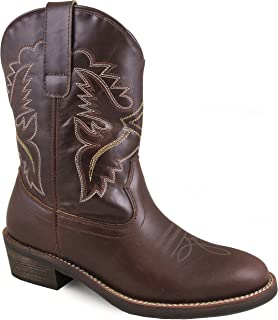 Smoky Mountain Women's Grove Stitched Design Pull On Narrow Round Toe Brown Western Boots