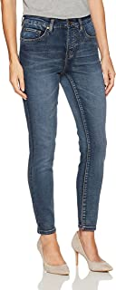 Tribal Women's 5 Pocket Ankle Knit Denim Jegging, Medium