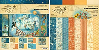 Graphic 45 Dreamland Collection Pack and Patterns & Solids Pad - 12x12 Decorative Papers - 2 Items