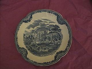 ジョンソンBrothers古いBritain城ブルーTea Saucer 5.75インチ、5.75インチ、ブルー