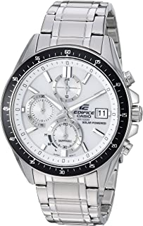 Men's Edifice Quartz Watch with Stainless-Steel Strap, Silver, 21.7 (Model: EFS-S510D-7AVCR)