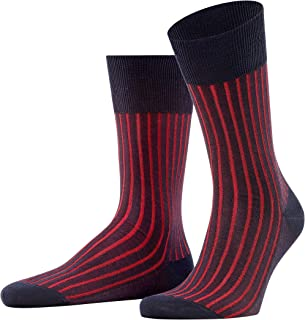 FALKE Men's Shadow Socks Cotton Black Grey More Colours Thin Colourful Calf Socks With Stripe Pattern For All Occasions Wo...
