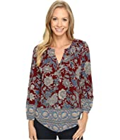 Lucky Brand - Burgundy Floral Top