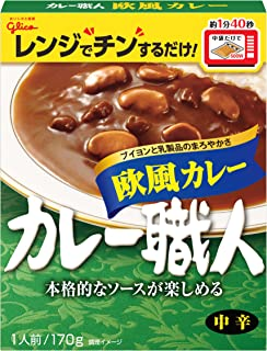 江崎グリコ カレー職人欧風カレー中辛170g×10個