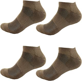 Women's Rayon from Bamboo Fiber Colored Sports Superior Wicking Athletic Ankle Socks - 4 Pair Value Pack