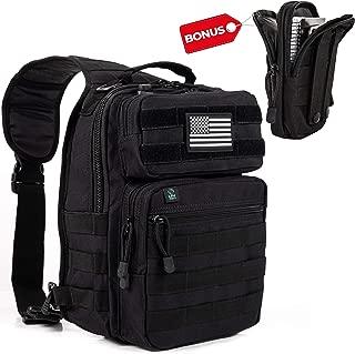 Tactical Sling Bag Pack Military Rover Shoulder Sling Backpack Molle Assault Range Bag Everyday Carry Diaper Bag Day Pack