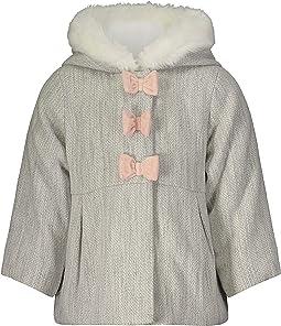 Faux Wool Hooded Winter Coat
