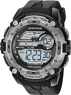 Armitron Sport 男式数码计时树脂表带手表