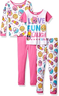 Shopkins Girls` 4-Piece Cotton Pajama Set