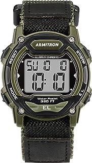 Armitron Sport Quartz Sport Watch with Nylon Strap, Black, 24 (Model: 45/7004DGN)