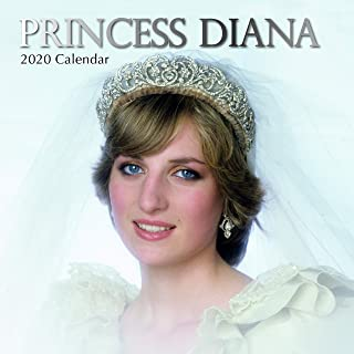 2020 Wall Calendar - Princess Diana Calendar, 12 x 12 Inch Monthly View, 16-Month, Famous Persona Icon, Includes 180 Reminder Stickers