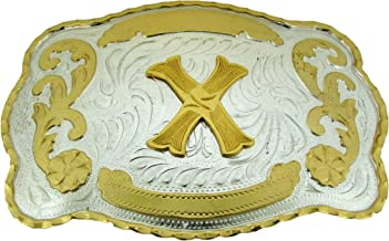 LETTER X METAL BELT BUCKLE INITIAL WESTERN DESIGN COUNTRY COWBOY RODEO