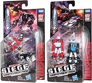 Transformers Bundle of 2 War for Cybertron: Siege Micromaster 2-Packs: WFC-S18 Soundwave Spy Patrol 2-Pack with Laserbeak and Ravage, and WFC-S19 Rescue Patrol 2-Pack with Red Heat and Stakeout