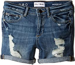 DL1961 Kids - Piper Unstitched Cuffed Jean Shorts in Instinct (Big Kids)