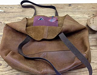 517e66121523 Soft Leather Hobo Tote bag Slouchy Handmade Women s Shoulder Purse Brown