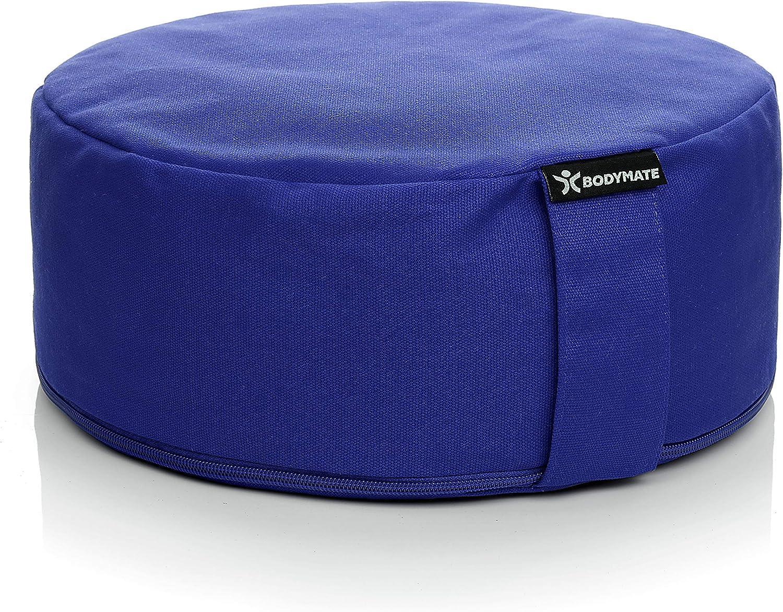 BODYMATE Meditation Cushion Choice Yoga Pillow D=12inch – Same day shipping H=5inch Remov