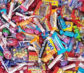 Halloween Candy Party Mix, 5 Lbs Bulk Pack - Jolly Rancher Lollipops, Tootsie Pops, Tootsie Roll, Tootsie Dots, Haribo Cola Gummy, Smarties, Wonka Nerds, Sweetarts, Wonka Luffy Taffy, Cinnamon Disks